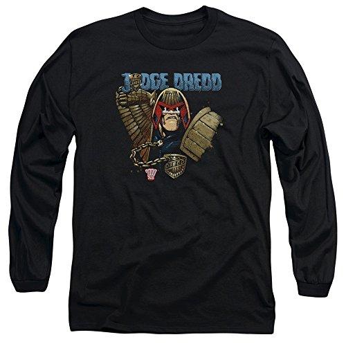 Judge Dredd Comic Book Character 2000 A.D. Smile Scumbag Adult L-Sleeve T-Shirt