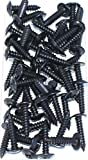 Negro Tack tornillos 12x 3/4tornillos para enganchar guardabarros para coches y furgonetas–Tornillos de alta calidad