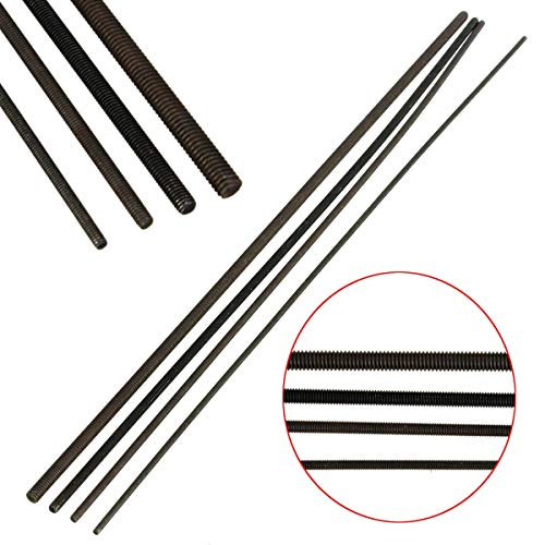 DyNamic Grade 12,9 Carbon Steel Black Threaded Metal Rod M2/M2.5/M3/M4 Länge 250Mm - M4 Carbon Steel Fleck