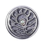 Noosa Petite Chunk PEAFOWL wise silver/ black- white metal/ lava