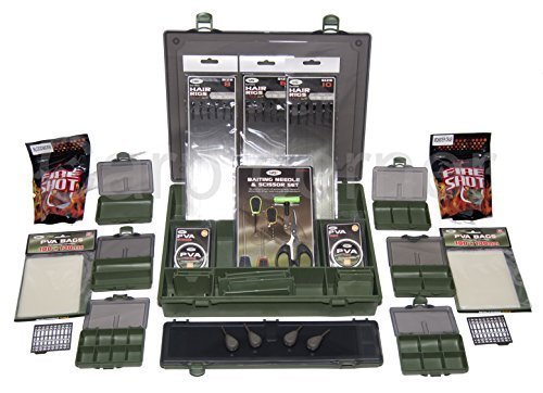 Carp Fishing Tackle Box Loaded With PVA Leads Rigs Wallet Small Boxes Baiting by Carp-Corner (Small Fishing Tackle Box)