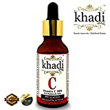 #4: Khadi Global Vitamin C 30% , E & Vegan Hyaluronic Acid Miraculous Advanced Facial Serum For Face, Neck & Shoulder | Fights Free-Radical Damage, Sun Damage & Improves Pigmentation issues | Fight With Bacterias Inside Skin Pores, Stops Acne & Pimple Problem | Natural & Safe | 30 ml