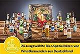 Image of Kalea Bier-Adventskalender 2019 | 24 Deutsche Bier-Spezialitäten und 1 Verkostungsglas | 24 x 0.33 l Flaschen | Geschenkidee Zur Vorweihnachtszeit