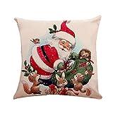 Zolimx Casa Decorazione Natale Federa Cotone Cuscino Cassa Lino Cuscino Copertina Merry Christmas Home Decorazione, Regalo Di Natale