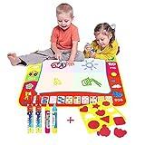 80*60CM Magic Wasser Doodle Malmatte Mehrfarbig,AEVEA Magic Doodle Matte für Kinder zum Bemalen mit 4 Magic Wasser Doodle Stifte