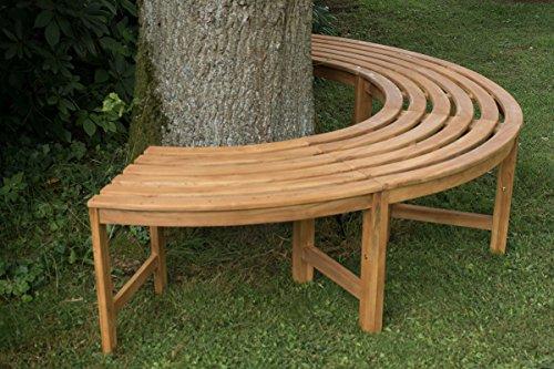 CLP 180° Teak Baum-Bank MALE, halbrund Ø ca. 115 cm / 200 cm (innen/außen), Teakholz, massiv, ohne Rückenlehne Braun - 3