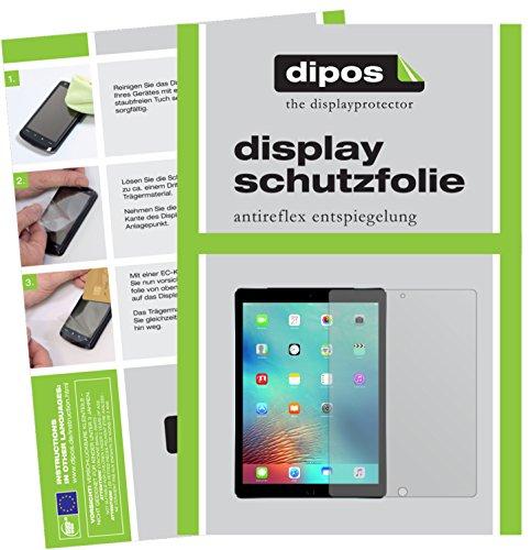 dipos I 2X Schutzfolie matt kompatibel mit Apple iPad Pro 12,9 Zoll (2016) Folie Displayschutzfolie