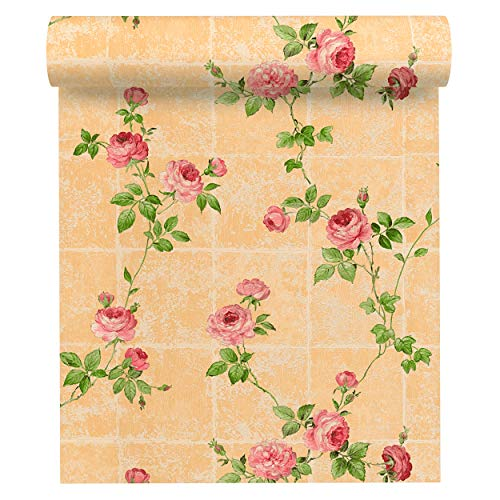 A.S. Création Vliestapete Chateau 5 Tapete mit Blumen floral 10,05 m x 0,53 m beige grün rosa Made in Germany 345016 34501-6 - Neo Chateau
