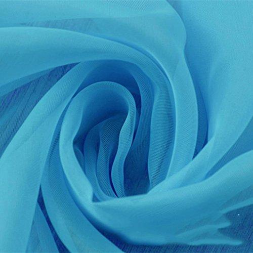 """Preisvergleich Produktbild DOLDOA 1PCS/ 2 PCS Reine Farbe Tulle Tür Fenster Vorhang Drapieren Panel Sheer Schal Valances (GrößeA (L x B):98.42 """"* 39.37"""", B)"""