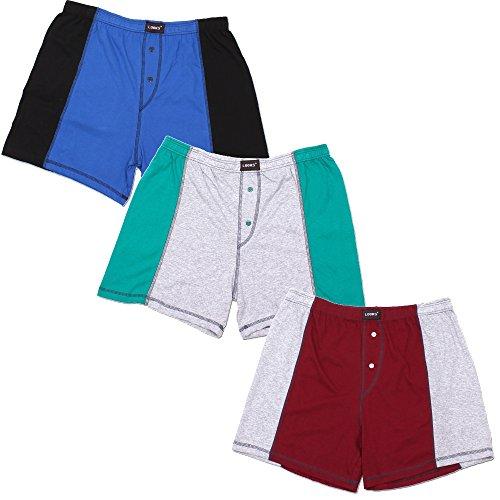 3er Pack Herren Boxershorts in Übergröße Nr. 395 - Farben und Muster können variieren  Mehrfarbig