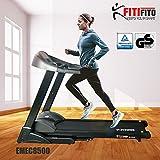 Fitifito EMEC8500 Cinta para correr profesional, entrenamiento en casa, 7 CV con 5 módulos de entrenamiento, de color negro, abatible con amortiguación, pantalla LED