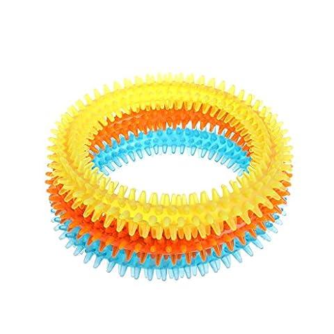 Hundespielzeug,Dairyshop1PC Gummi Haustier Hund Welpen Gesund Zahn Zähne Reinigung Gums Chew Beißen Ring Spielzeug, ungiftig Gummi (L)