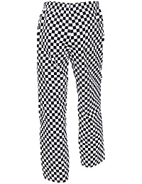 c6f79e31c SurePromise Unisex Chefs Trouser Catering Workwear Restaurant Kitchen Pants  Elasticated Waist Pull Cord Large Check Chef