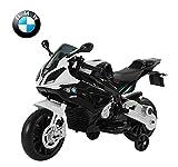 BMW Moto électrique pour Enfant Double Moteur Jeu éducatif en PP Noir et Blanc