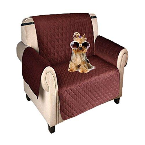 Newmeil Sofaschoner Sesselbezug 1 Sitzer Wasserdicht Anti-Rutsch Schwarz/Grau/Koffee (Koffee)
