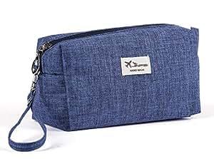fe18de71cb Buy Egab pack 2 Toiletry Bag cum Cosmetic Pouch Organizer (Navy Blue ...