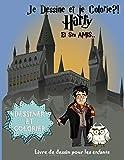 Je dessine et je colorie Harry et ses amis: livre de dessin et coloriage avec bande dessinée vierge - harry et les personnages pour les enfants.