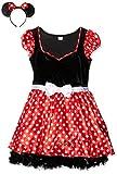 Rubie's 3888841 - Kostüm für Erwachsene - Sassy Minnie Mouse Adult, S, rot / weiß