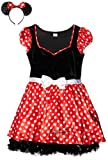 Rubie's Offizielles Damen-Kleid Disney Minnie Maus, Gr. L