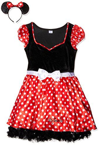Rubie's Offizielles Damen-Kleid Disney Minnie Maus, Gr. L (Minnie Mouse Adult Kostüm)