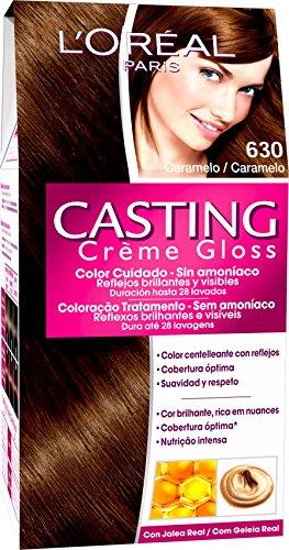 L'Oreal Paris Casting Créme Gloss Coloración Sin Amoniaco, Tono: 630 Caramelo