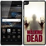 Funda carcasa para Huawei P8 Lite diseño the walking dead 3 borde negro
