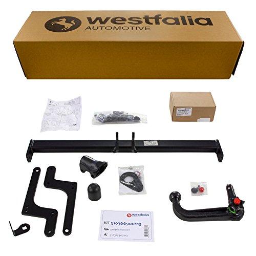 duster anhaengerkupplung Westfalia Abnehmbare Anhängerkupplung für Duster I+II, SUV (ab BJ 03/2010) im Set mit 13-poligem fahrzeugspezifischen Elektrosatz
