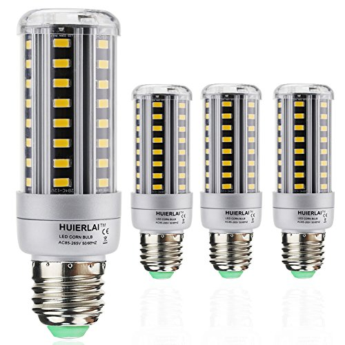 4er Pack E27 LED Mais Birne Beleuchtung 12W LEDs Leuchtmittel Maiskolben Warmweiß 3000K 1205lm Ersatz 80-100W Glühlampe dabei sparen Sie über 80% Stromkosten by HUIERLAI (Bad-wärme-lampen)