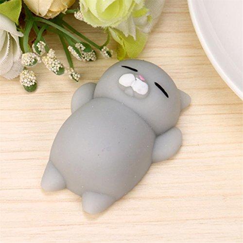Stress Relieger Mochi Squishy Katze, Moonuy Nette Squeeze Healing Fun Kinder Kawaii Spielzeug Stress Reliever Dekor (A) - 4