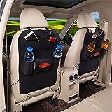 2 Stück Rückenlehnenschutz Auto Rücksitz Organizer Utensilientasche Kinder Filz Sitz