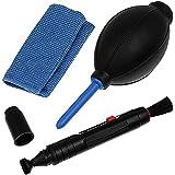 niceEshop Kit de nettoyage pour appareil photo Canon, Nikon, Pentax et Sony comprenant un crayon, un chiffon et une poirette