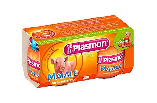 Plasmon homogenisiert Schweinefleisch omogenizzato Pig Italienische 2x 80g