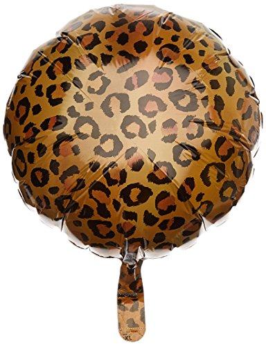 Amscan Folienballon Gepard  für Kindergeburtstag und Safari-Party // Deko Dekoration Leopard (Party Dekorationen Leopard)