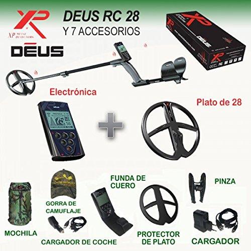 Detector de metales XP Deus Rc con plato de 28 cm.