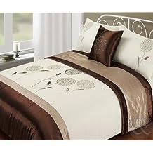 copripiumino matrimoniale marrone. Black Bedroom Furniture Sets. Home Design Ideas