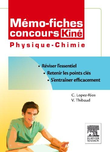Mémo fiches concours Kiné physique-chimie
