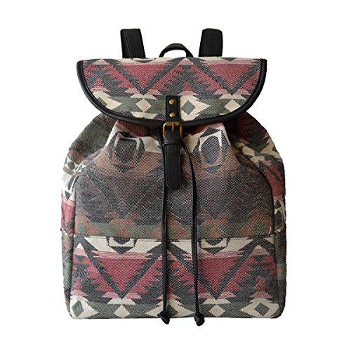 Mädchen Schöne Farbe Stripe Urban Stilvolle Licht Backpackers Schulter Rucksäcke 03
