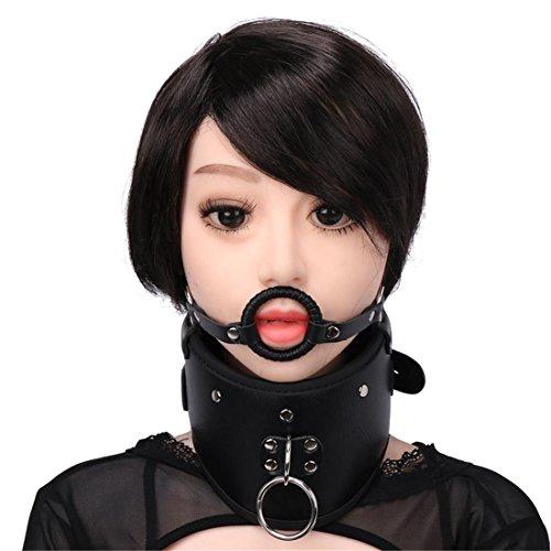 Kostüm Männliche Dienstmädchen (LIUZHI Rollenspiel / Hals Kragen / Handschuh Hund Sklaven Verdeck Kragen / Kragen / Bindungskin)