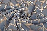 Swafing Softshell Jeansblau mit Sternen 0,5m