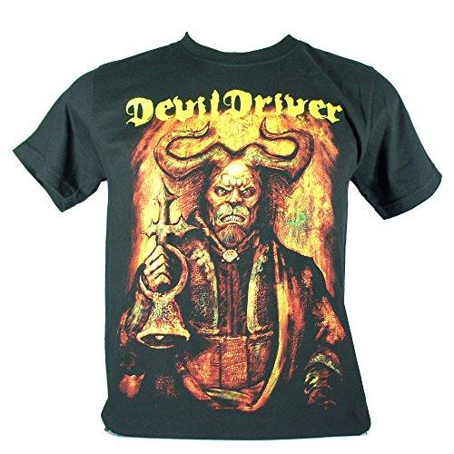 Devil driver-Maglietta da uomo nero Winter Kills Large Size L