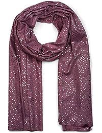 Schal 100/% Baumwolle Halstuch dünn Damen Herren dunkelgrau grau bunte Streifen