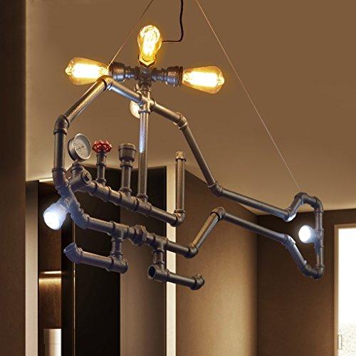 Kaffee Kleidungsstück (MILUCE Industrie Wind Kreative Persönlichkeit Retro Kleidungsstück Shop Cafe Restaurant Bar Bar Kaffee Bar Flugzeug Eisen Kronleuchter)