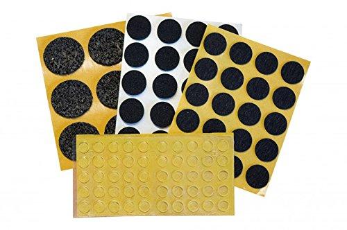 peha® Filzgleiter,- Antirutsch,- Elastikpuffer, - Bodenschutz-SET | 21 Sorten | 306-teilig -