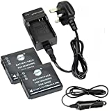DSTE® 2x CGA-S005E Rechargeable Li-ion Battery + DC68U Travel and Car Charger Adapter for Panasonic DMC-FS1 FXO1-A FXO1BB FXO1BS FXO1EB-K FXO1EB-S FXO1EB-W FXO1EF-A FXO1EF-K FXO1EF-S FXO1EF-W RICOH CAPLIO GR DIGITAL R30 R40 R3 R4 R5 FUJIFILM FINEPIX F20 FINEPIX F40FD LEICA C-LUX1 D-LUX4 D-LUX2 D-LUX3 Camera as Panasonic CGA-S005A DMW-BCC12