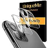 UniqueMe [2 Pezzi] Pellicola Fotocamera per iPhone 11 PRO/iPhone 11 PRO Max Protezione Lente Pellicola Posteriore, Vetro Temperato 9H Ultra Resistente