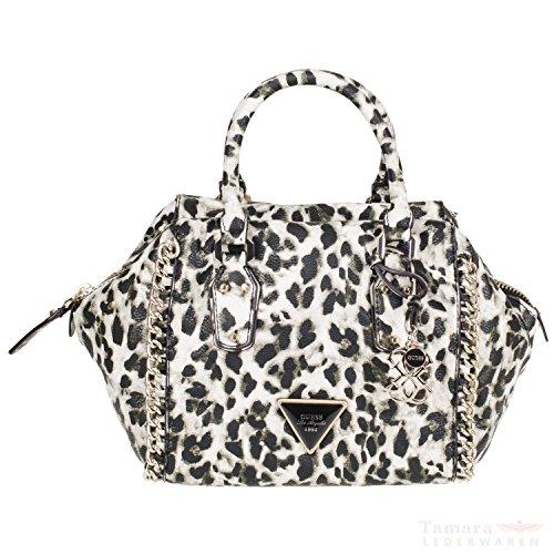Guess ashbury small satchel vG502905 pour femme 24 x 20 x 16 cm, motif léopard