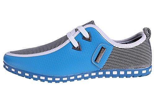 CANRO Chaussures de ville homme mocassins Adulte Bleu