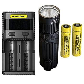 Combo: Nitecore SRT9 Flashlight -2150 Lumens w/2x NL1835 Battery & SC2 Charger