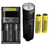 Combo: Nitecore SRT9 Flashlight -2150 Lumens w/2x NL1835 Battery & SC2 Charger