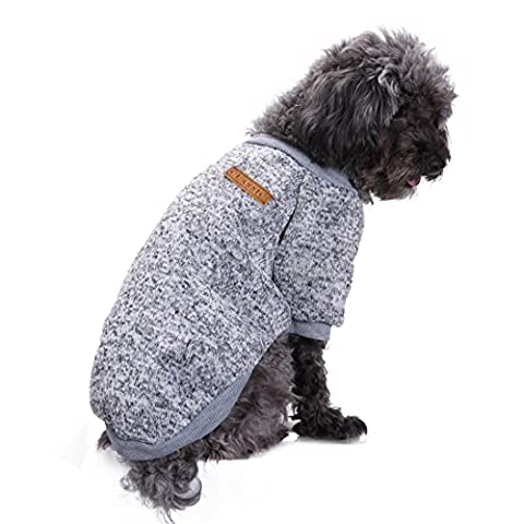 aisuper Hund Katze Kleidung Cute Cool Fashion Hoodie Pullover für Herbst Winter klein mittelgroß groß Pet Jumper Sweatshirt Warm Mops Chihuahua Bulldog Top (10Farben)